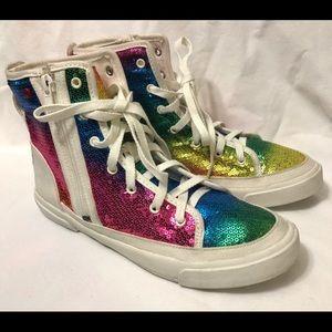 I Heart Ugg Rainbow High Top Sneakers